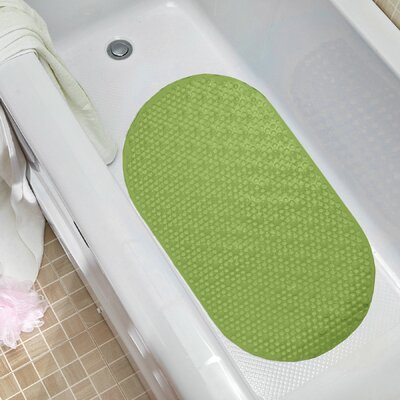 Non Slip Oval Bubble Bath Tub Mat Color: Green