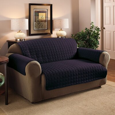 Luxury Pet Dog Loveseat Protector Slipcover Upholstery: Navy
