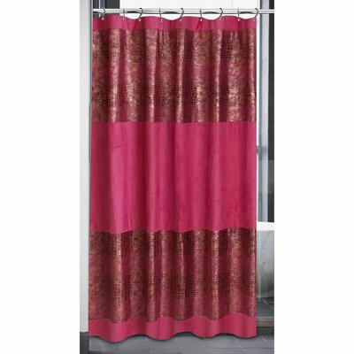 Faux Suede Cobra Animal Shower Curtain Color: Fuchia