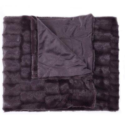 Box Decorative Reversible Faux Fur and Mink Throw Color: Plum