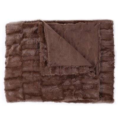 Box Decorative Reversible Faux Fur and Mink Throw Color: Chocolate