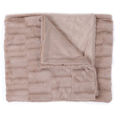 Box Decorative Reversible Faux Fur and Mink Throw Color: Taupe
