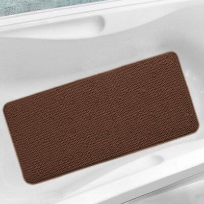 Antibacterial Cushioned Waffle Non Slip Bath Tub Mat Color: Chocolate, Rug Size: 3' x 1'5