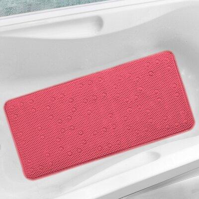 Antibacterial Cushioned Waffle Non Slip Bath Tub Mat WAFF-MAT-PINK