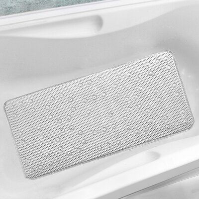 Antibacterial Cushioned Waffle Non Slip Bath Tub Mat Color: White, Rug Size: 3 x 15