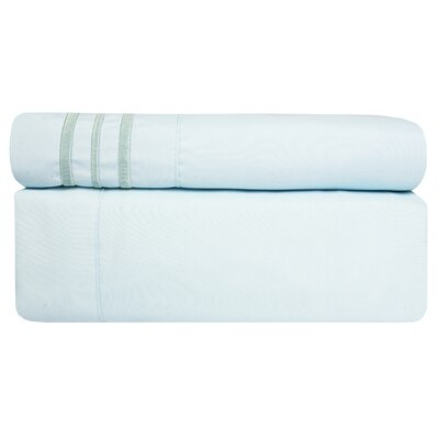 1800 Thread Count Sheet Set Color: Aqua, Size: Twin