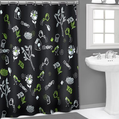 Chalk Board 3D PEVA Shower Curtain
