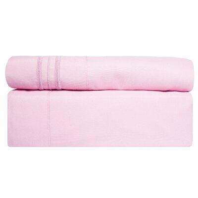 1800 Thread Count Sheet Set Size: Twin, Color: Pink