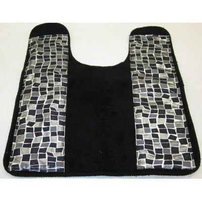 Mosaic Stone Banded Bath Contour Mat