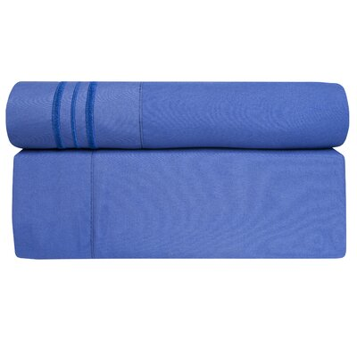 Microfiber Sheet Set Size: King, Color: Royal Blue