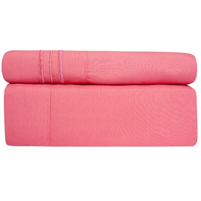 Microfiber Sheet Set Size: Queen, Color: Strawberry Pink