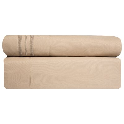 Microfiber Sheet Set Size: King, Color: Taupe