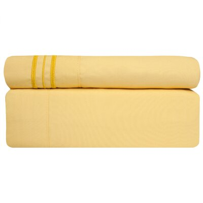Microfiber Sheet Set Size: Queen, Color: Yellow