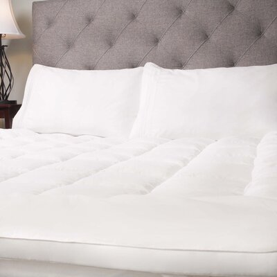 Hypoallergenic Down Alternative Fiber Bed Mattress Topper Size: King