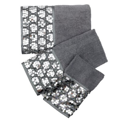 Sinatra Bath 3 Piece Towel Set Color: Gray