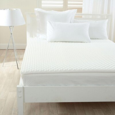Lightweight Textured 2 Mattress Topper Pad Size: Twin