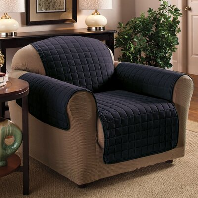 Luxury Pet Dog Chair Protector Slipcover Upholstery: Navy