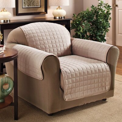 Chair Protector Slipcover Upholstery: Tan