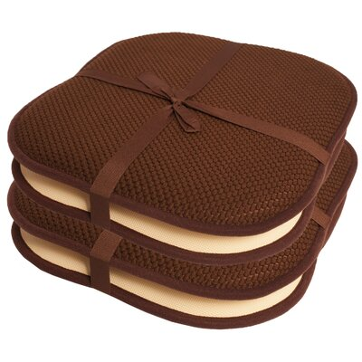 Indoor/Outdoor Dining Chair Cushion Color: Brown