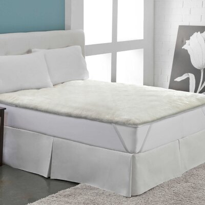 Warm Ultra Plush Sherpa Mattress Pad Size: King