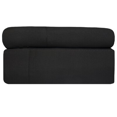 4 Piece Sheet Set Size: Cali King, Color: Black