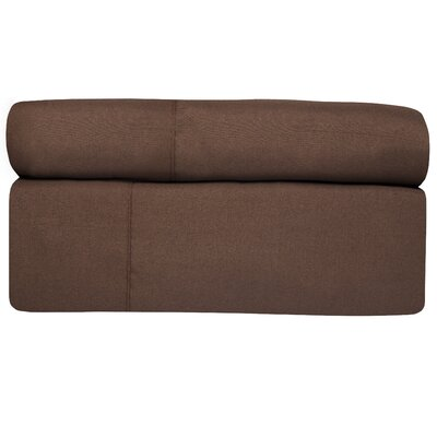 4 Piece Sheet Set Color: Brown, Size: King