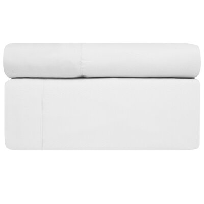 4 Piece Sheet Set Size: King, Color: White