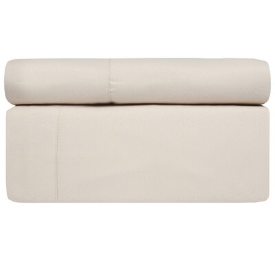 4 Piece Sheet Set Color: Cream, Size: King