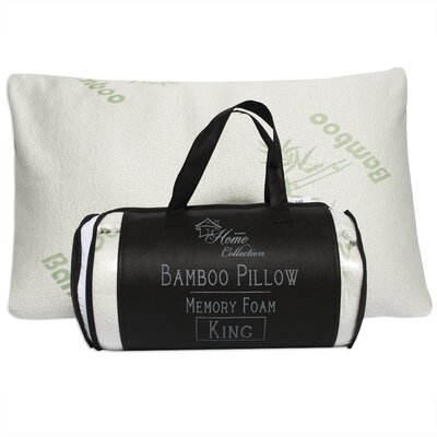 Hypoallergenic Bamboo Rayon and Carry Bag Memory Foam Pillow Size: King