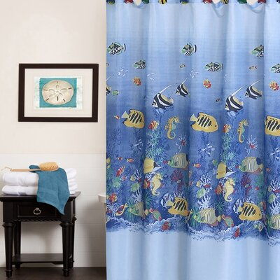 Colorful Tropical Sea Printed Shower Curtain