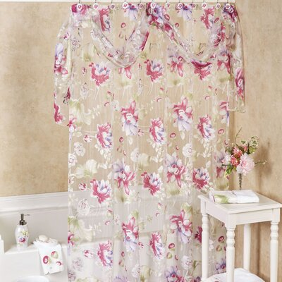 Flower Haven Bath Shower Curtain