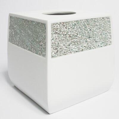 Lustre Cracked Glass Tissue Box Cover LUSTR-TB-SIL-210