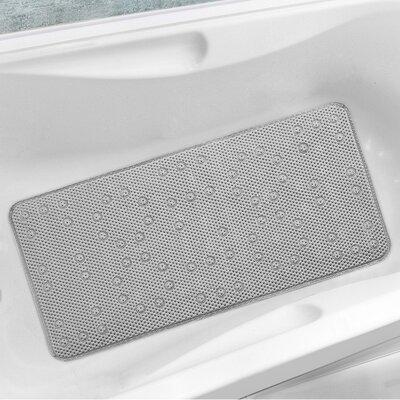 Antibacterial Cushioned Waffle Non Slip Bath Tub Mat Color: Silver, Rug Size: 10 x 13