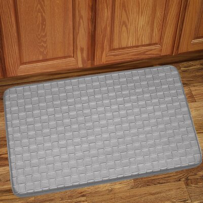 Otego Kitchen Mat Color: Silver, Mat Size: Rectangle 10 x 13