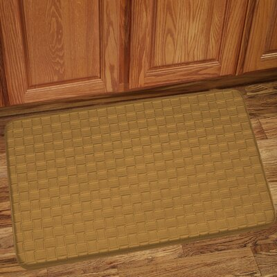 Otego Kitchen Mat Color: Tan, Rug Size: 10 x 13