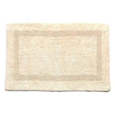 100% Cotton Soft 2 Sided Reversible Bath Mat Color: Ivory