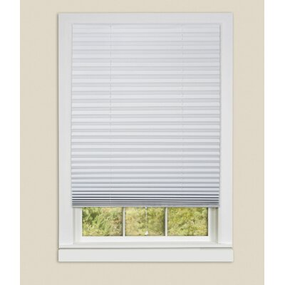 Vinyl Temporary Room Darkening White Pleated Shades