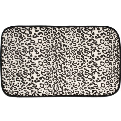 Exotic Snow Leopard Quick Dry Memory Foam Bath Rug