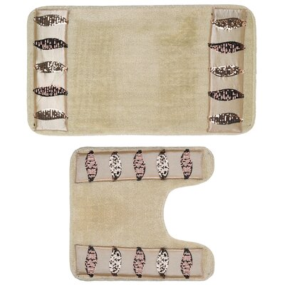 2 Piece Banded Bath Rug Set
