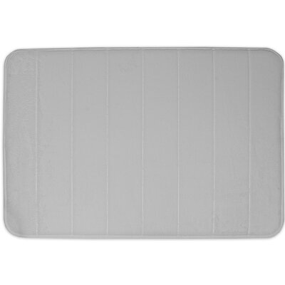 Non-Slip Memory Foam Bath Mat Color: Pewter