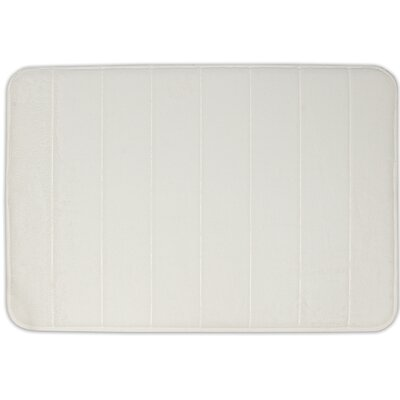 Non-Slip Memory Foam Bath Mat Color: White