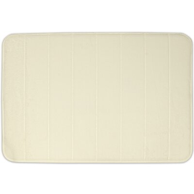 Non-Slip Memory Foam Bath Mat Color: Ivory