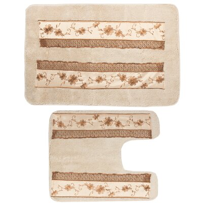 Veronica 2 Piece Banded Bath Rug Set