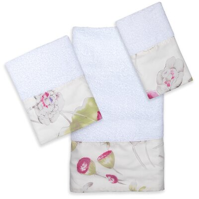 Flower Haven 3 Piece Towel Set