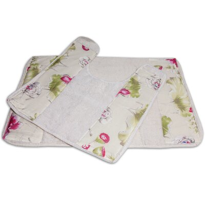 Flower Haven 2 Piece Banded Bath Rug Set