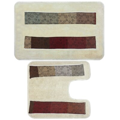 Miramar 2 Piece Banded Bath Rug Set