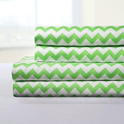 Ronnie Sheet Set Color: Green, Size: King
