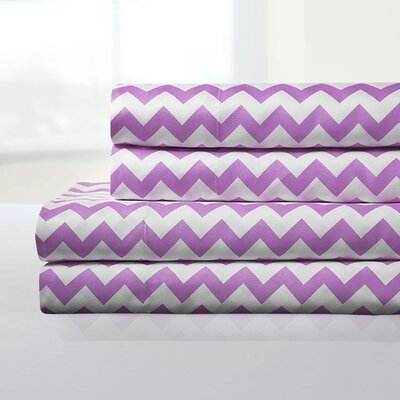 Ronnie Sheet Set Color: Lilac, Size: King