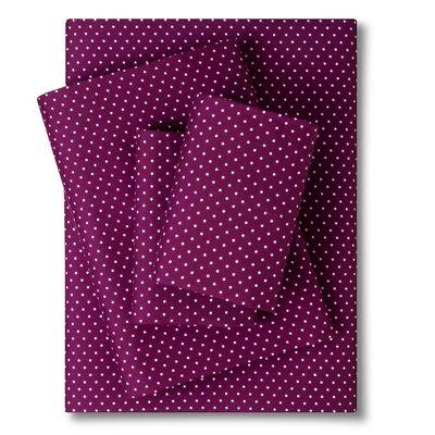 4 Piece Hannah Sheet Set Color: Purple, Size: Queen