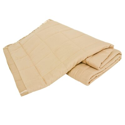 All Season Down Alternative Satin Trim Blanket Color: Tan